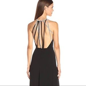 Halston Heritage Gown multi chain back in black